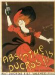 Vintage French Red Absinthe Advert Metal Sign Plaque